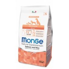 MONGE ALL BREEDS SALMONE E RISO KG.2.5