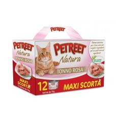 PETREET NATURA MAXI SCORTA TONNO ROSA 12 PEZZI ( € 0,79 cadauna)