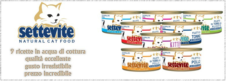 SETTEVITE NATURAL CAT FOOD 70GR PER GATTI