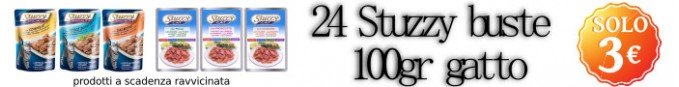 24 Stuzzy cat busta 100gr a soli 3€