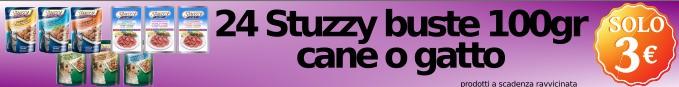 24 Stuzzy busta 100gr cane o gatto a soli 3€