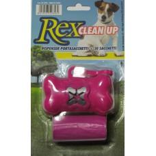 REX CLEAN UP PORTASACCHETTI + 30 SACCHETTI