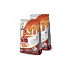 X 2 FARMINA N&D PUMPKIN ADULT MEDIUM/MAXI POLLO E MELOGRANO 12 KG X 2