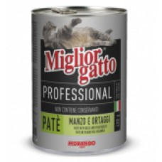 MIGLIOR GATTO PATE' GR.400 MANZO ORTAGGI