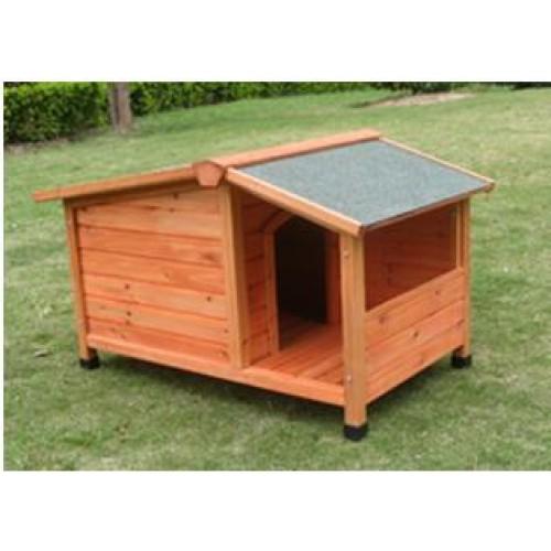 Cuccia in legno per cane con veranda tetto apribile 3 - Cuccia per gatti da esterno fai da te ...
